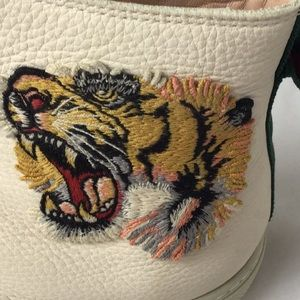 Shoes - Authentic Gucci Tiger White High Top Sneaker